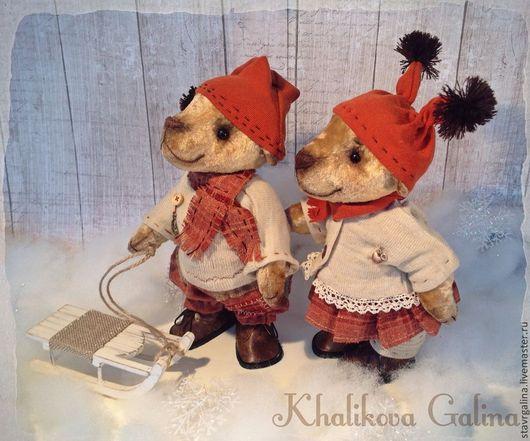 Мишки Тедди ручной работы. Ярмарка Мастеров - ручная работа. Купить Мишки тедди Ванюшка и Варя. Скидка 15%. Handmade.