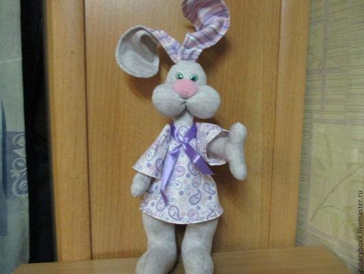 Игрушки животные, ручной работы. Ярмарка Мастеров - ручная работа. Купить Подарочный кролик БУЛЬ. Handmade. Бледно-сиреневый