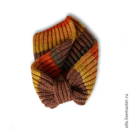 Повязки ручной работы. Ярмарка Мастеров - ручная работа. Купить Повязка на голову вязаная. Handmade. Разноцветный, повязка на голову, охра