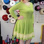 Одежда ручной работы. Ярмарка Мастеров - ручная работа Вязаное платье №4. Handmade.