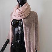 Одежда ручной работы. Ярмарка Мастеров - ручная работа Комплект из снуда и кардигана-накидки Розовая дымка. Handmade.