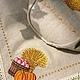 """Кухня ручной работы. Льняной мешочек для хлеба """" Богатый урожай"""". Наталия Сухова (NSDecor). Ярмарка Мастеров. Художественная вышивка"""