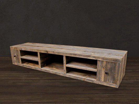 Мебель ручной работы. Ярмарка Мастеров - ручная работа. Купить Консоль под TV. Handmade. Массив дерева, индастриал, tv