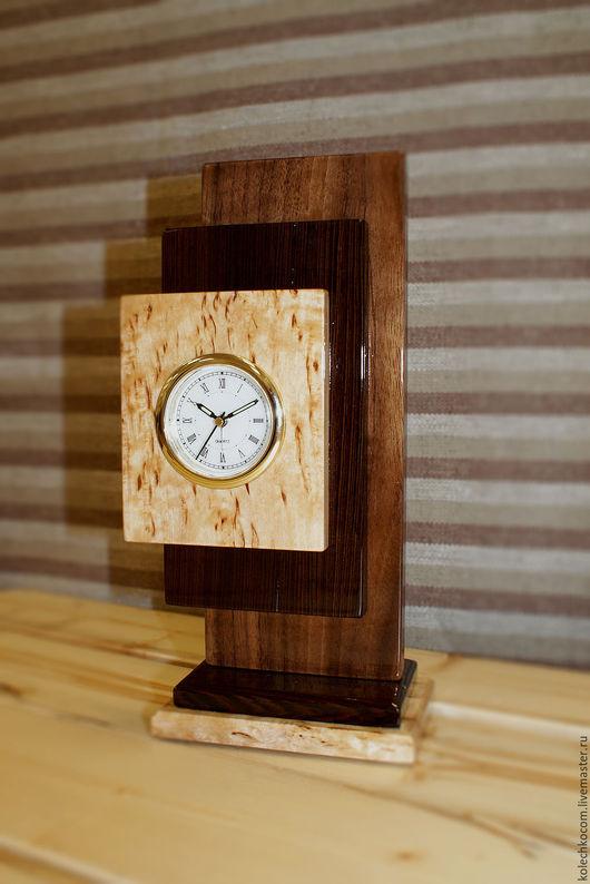 """Часы для дома ручной работы. Ярмарка Мастеров - ручная работа. Купить Часы настольные """"Стела"""". Handmade. Коричневый, часы для дома"""