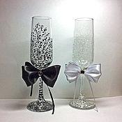Свадебный салон ручной работы. Ярмарка Мастеров - ручная работа Свадебные бокалы Элегант. Handmade.