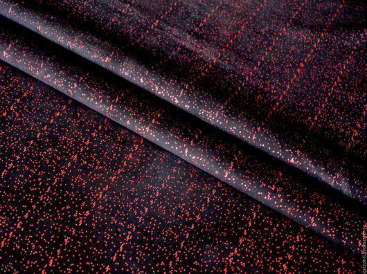Шитье ручной работы. Ярмарка Мастеров - ручная работа. Купить Натуральная черная замша - С красными блестками. Handmade.