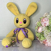 Куклы и игрушки handmade. Livemaster - original item Soft toy hare knitted from plush yarn cute Bunny. Handmade.