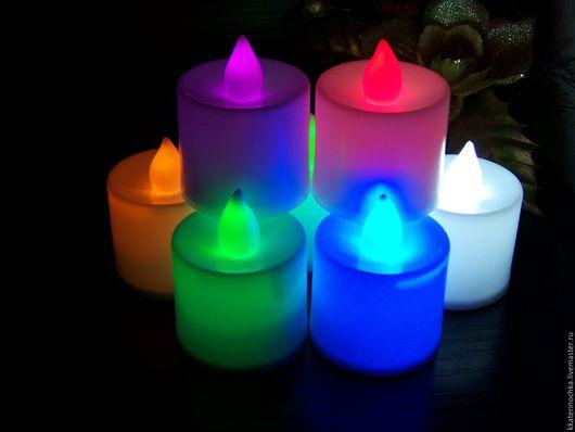 Свадебные аксессуары ручной работы. Ярмарка Мастеров - ручная работа. Купить Светодиодные свечи цветные. Handmade. Комбинированный, цветные, пластик