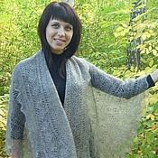 Аксессуары handmade. Livemaster - original item 43 drape down grey, accessories, shawl,shawl. Handmade.
