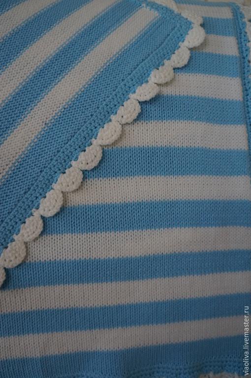 """Аксессуары для колясок ручной работы. Ярмарка Мастеров - ручная работа. Купить """"По морям, по волнам"""" детское одеяло. Handmade. Голубой"""