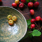 Посуда ручной работы. Ярмарка Мастеров - ручная работа Танец Зеленого Репейника Хюгге. Handmade.