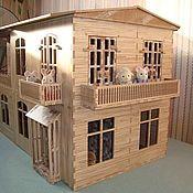Куклы и игрушки ручной работы. Ярмарка Мастеров - ручная работа Деревянный кукольный домик большой. Handmade.