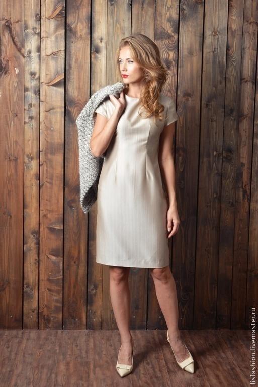 Платья ручной работы. Ярмарка Мастеров - ручная работа. Купить Платье Франциска 4181164. Handmade. Бежевый, платье коктейльное