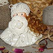 Украшения ручной работы. Ярмарка Мастеров - ручная работа Рассветная мелодия... Брошка куколка текстильное украшение. Handmade.