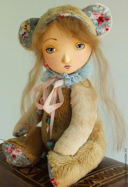 Коллекционные куклы ручной работы. Ярмарка Мастеров - ручная работа. Купить Плюшевая Тедди-долл Нелли. Handmade. Бежевый, синтепух