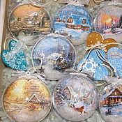 """Подарки к праздникам ручной работы. Ярмарка Мастеров - ручная работа """"Настоящая зима"""" набор елочных украшений. Handmade."""