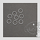 Для украшений ручной работы. Соединительные колечки 925 посеребрённые 3мм 4мм 5мм 6мм 7мм 8мм 9мм. GalA beads. Ярмарка Мастеров.