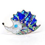 Украшения handmade. Livemaster - original item Brooch Hedgehog. Lapis Lazuli, Turquoise, Mother Of Pearl. Unique brooch.. Handmade.