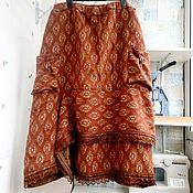 Одежда ручной работы. Ярмарка Мастеров - ручная работа Юбка из шерсти и вискозы с оборкой. Handmade.