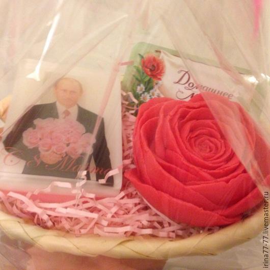 Мыло ручной работы. Ярмарка Мастеров - ручная работа. Купить Мыло- Подарочный набор к 8 Марта( любые цветы и цвет). Handmade.