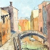 Картины и панно handmade. Livemaster - original item Venice watercolor Print copyright. Handmade.