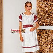 Одежда handmade. Livemaster - original item Dress white spring water MIDI. Handmade.