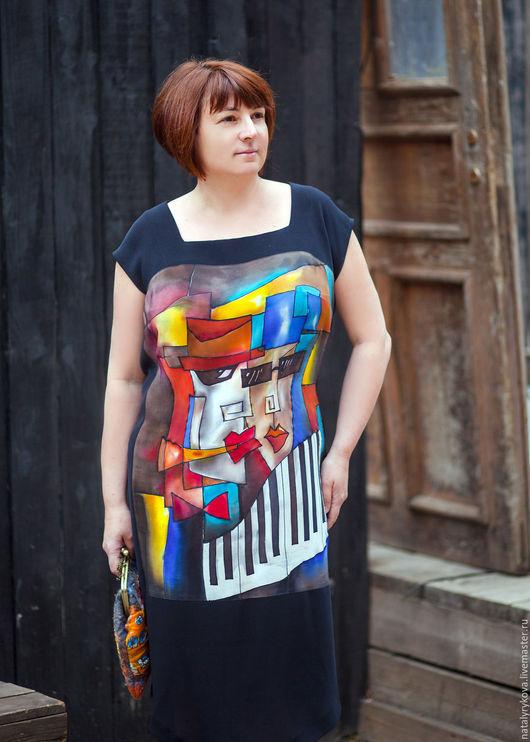 Платья ручной работы. Ярмарка Мастеров - ручная работа. Купить Мы из джаза платье шелковое. Батик.. Handmade. Платье