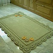 Для дома и интерьера handmade. Livemaster - original item Knitted crochet rug from cord handmade buy with Lacy border. Handmade.