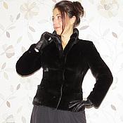 """Одежда ручной работы. Ярмарка Мастеров - ручная работа Жакет из норки """"Scanblack"""". Handmade."""