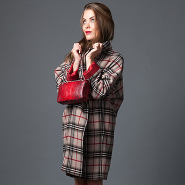"""Одежда ручной работы. Ярмарка Мастеров - ручная работа Пальто оверсайз """"RED"""" в клетку от AMODAY. Handmade."""
