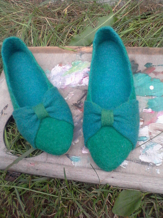 """Обувь ручной работы. Ярмарка Мастеров - ручная работа. Купить Войлочные балетки """"HAVE FUN!"""". Handmade. Обувь, валяная обувь"""