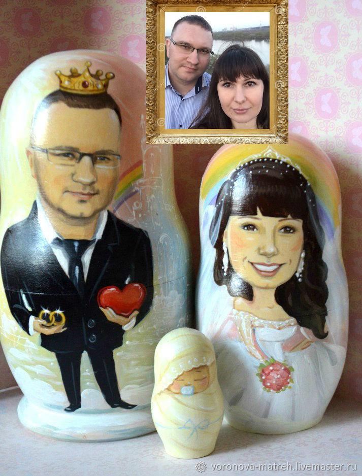 Матрешка портретная, Портретная кукла, Москва,  Фото №1