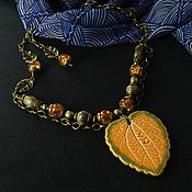 """Украшения ручной работы. Ярмарка Мастеров - ручная работа Колье """"Осенний поцелуй"""". Handmade."""