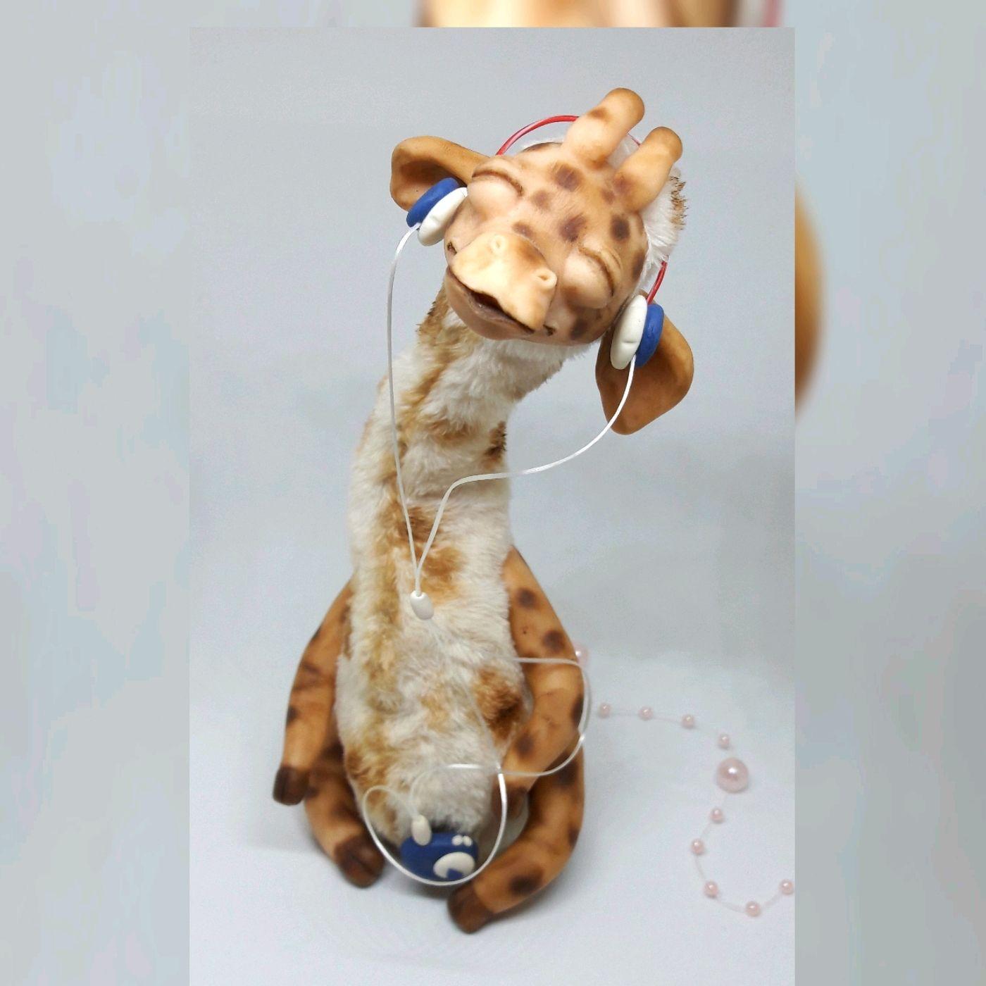 Жирафчик с плеером, Мягкие игрушки, Москва,  Фото №1