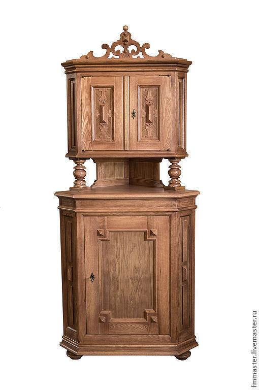 Мебель ручной работы. Ярмарка Мастеров - ручная работа. Купить Шкафчик угловой с башенкой. Handmade. Бежевый, древесина, буфет, американский