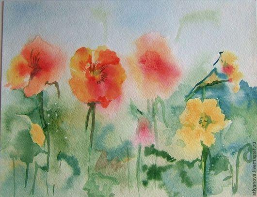 Картины цветов ручной работы. Ярмарка Мастеров - ручная работа. Купить лето. Handmade. Цветы, пастельные цвета, кисть