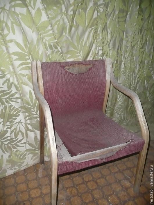 """Реставрация. Ярмарка Мастеров - ручная работа. Купить Реставрация, ремонт,перетяжка кресла """"Крепыш"""". Handmade. Тёмно-синий, винтаж, лак"""