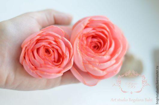 """Заколки ручной работы. Ярмарка Мастеров - ручная работа. Купить """"Малиновый десерт"""" - заколочка. Handmade. Розовый, свадьба, цветы в прическу"""