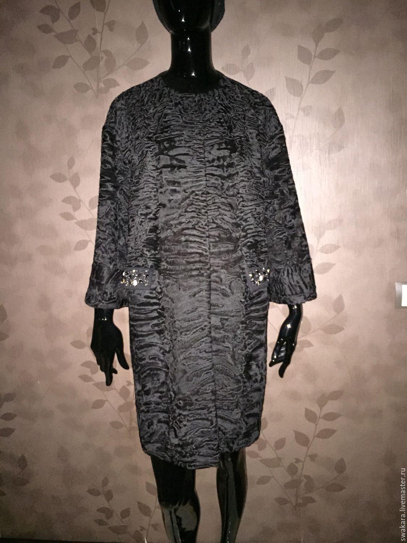 Купить Шубка-пальто из каракульчи - черный, каракуль, каракуль свакара, каракульча, шуба из каракуля, шуба