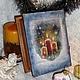 """Новый год 2017 ручной работы. """"Сон в зимнюю ночь"""" шкатулка-книга. Студия 'Обаяние декупажа'. Ярмарка Мастеров. Шкатулка для мелочей"""