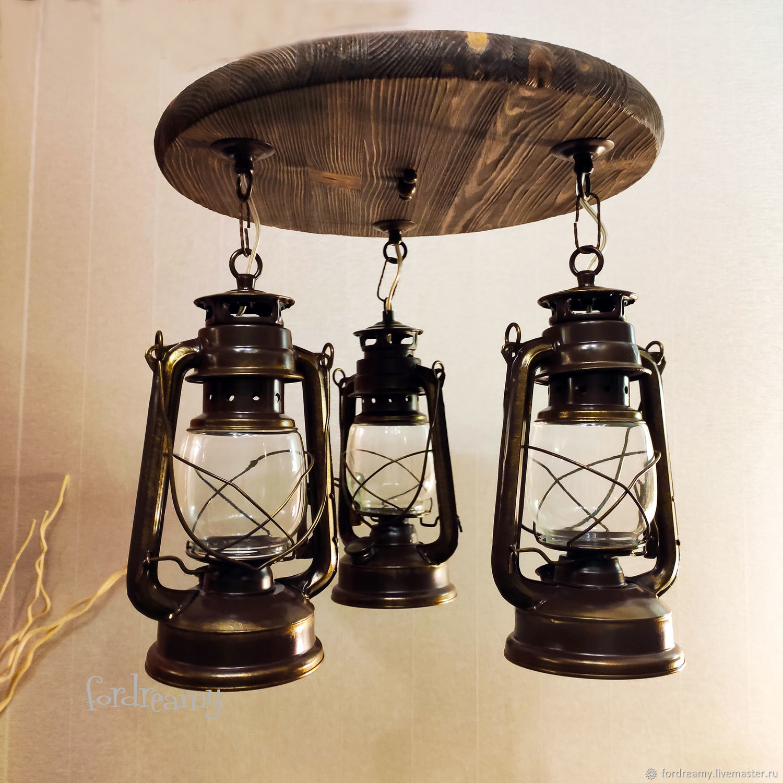 Chandelier Kerosene lamp electric lamp loft retro Scandi, Ceiling and pendant lights, Moscow,  Фото №1