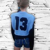 """Работы для детей, ручной работы. Ярмарка Мастеров - ручная работа Готовая работа : Вязаный топ-жилет  """"13"""". Handmade."""