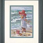 Для дома и интерьера ручной работы. Ярмарка Мастеров - ручная работа Девочка на пляже. Handmade.