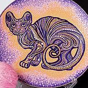 """Тарелки ручной работы. Ярмарка Мастеров - ручная работа Интерьерная тарелка """"Благородный сфинкс"""". Handmade."""