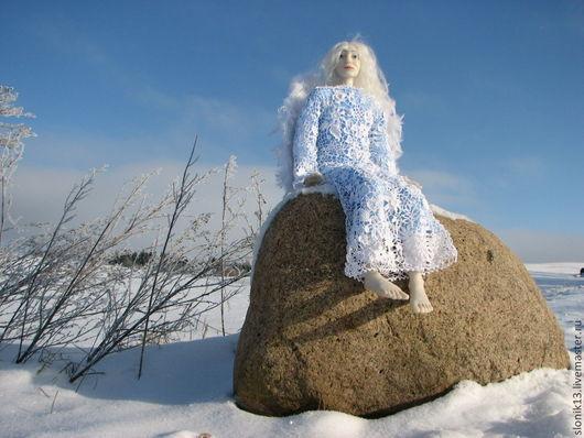 Коллекционные куклы ручной работы. Ярмарка Мастеров - ручная работа. Купить Авторская кукла ангел. Зимний ангел. Handmade. Белый