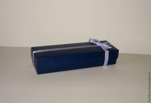 Подарочная упаковка ручной работы. Ярмарка Мастеров - ручная работа. Купить Подарочная коробочка. Handmade. Тёмно-синий, упаковка для подарка