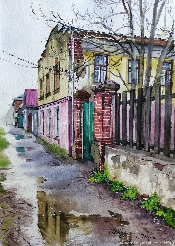 Акварель После майского дождичка... Родная Шуя, Картины, Шуя,  Фото №1