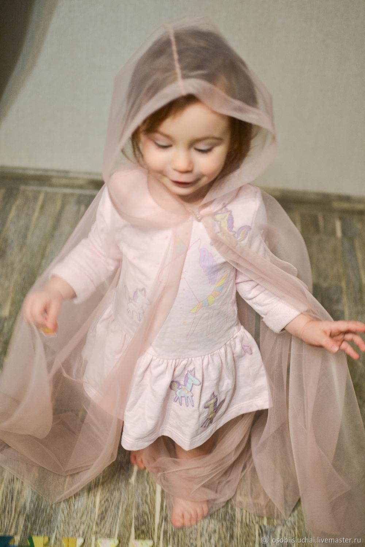 Накидка-Кейп с капюшоном для маленькой принцессы