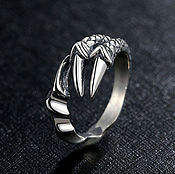 Украшения handmade. Livemaster - original item Ring Dragon Claws dimensionless from silver 925 unisex. Handmade.