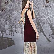 Одежда ручной работы. Ярмарка Мастеров - ручная работа Роскошное вечернее бархатное платье с кружевом Serena. Handmade.